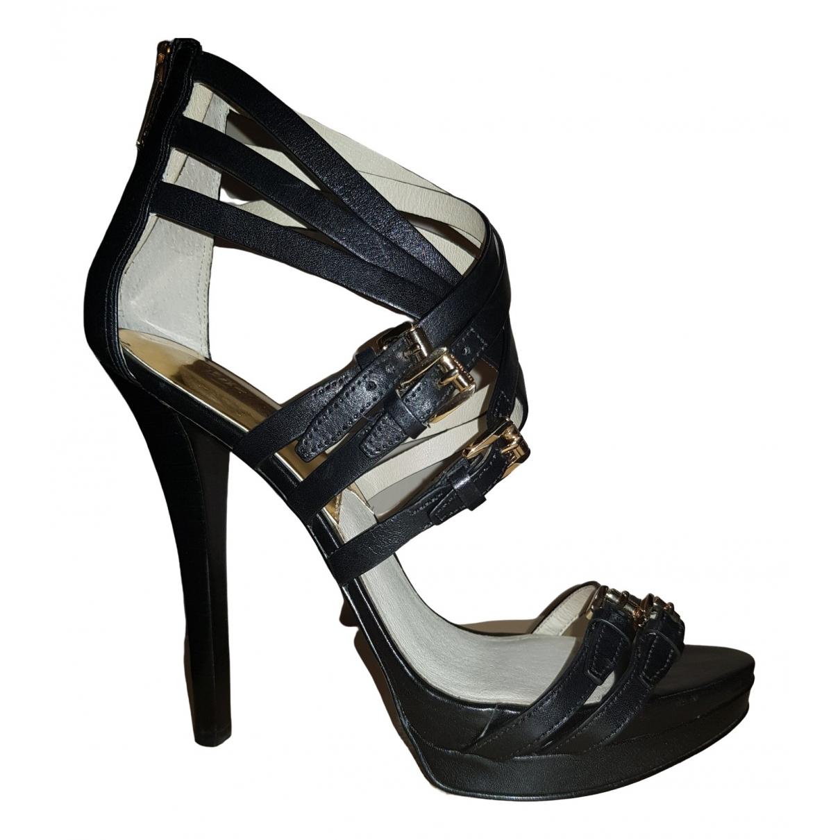 Michael Kors \N Black Leather Sandals for Women 9.5 UK