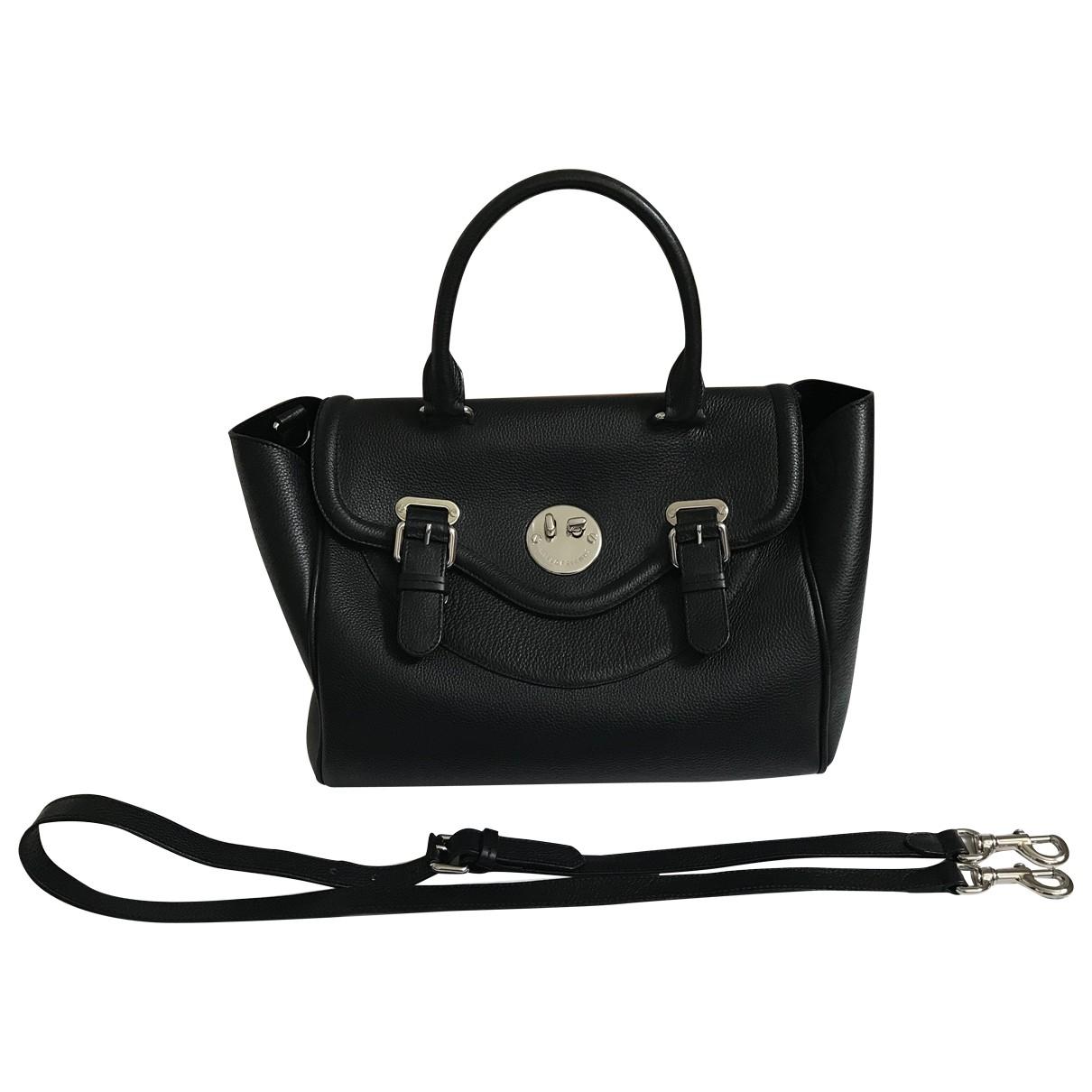 Hill & Friends \N Handtasche in  Schwarz Leder