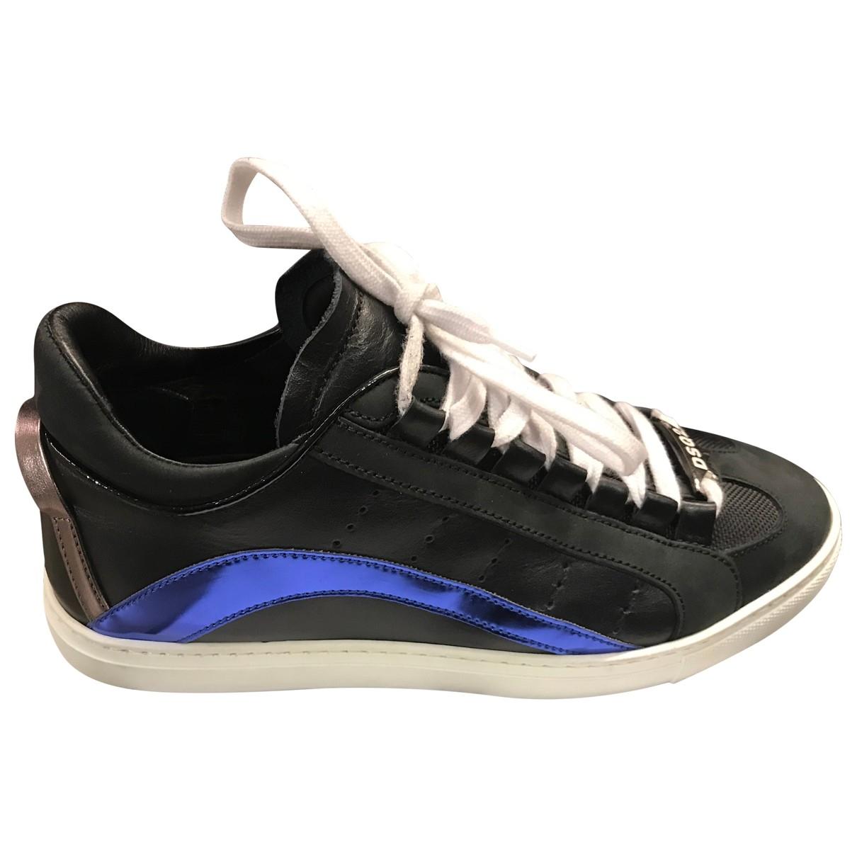 Dsquared2 \N Sneakers in  Schwarz Leder