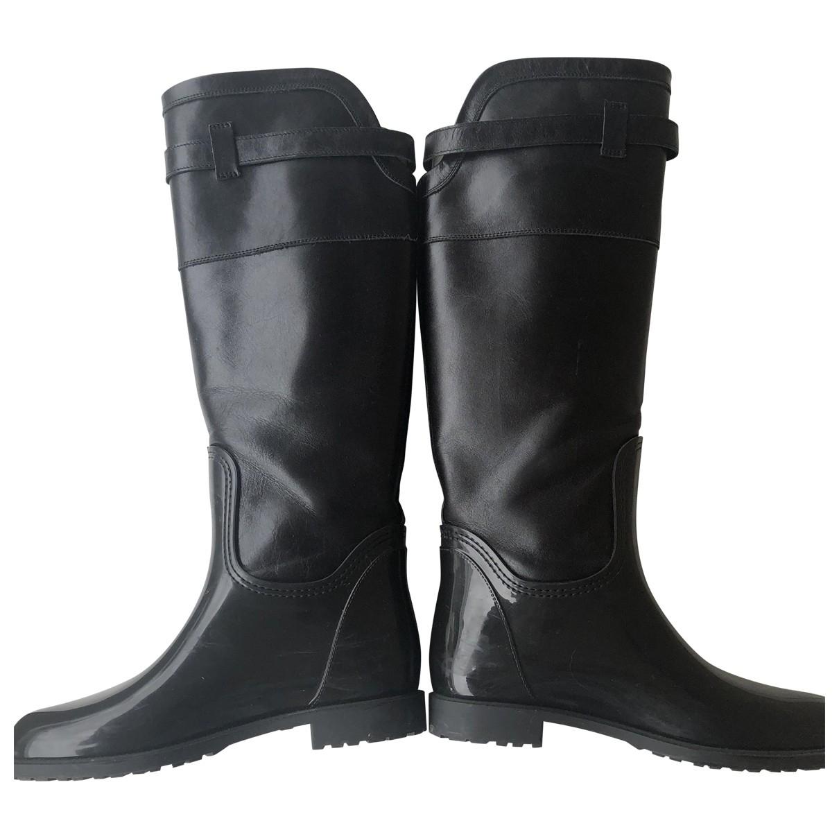 Menghi \N Stiefel in  Schwarz Leder