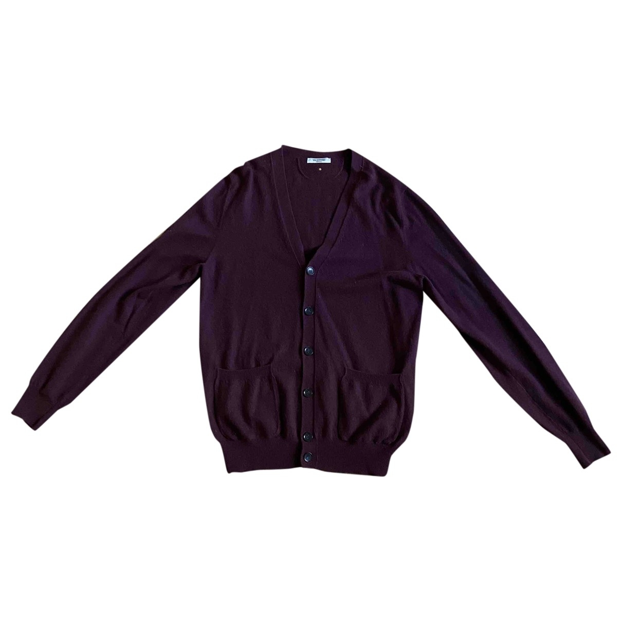 Valentino Garavani \N Pullover.Westen.Sweatshirts  in  Bordeauxrot Kaschmir