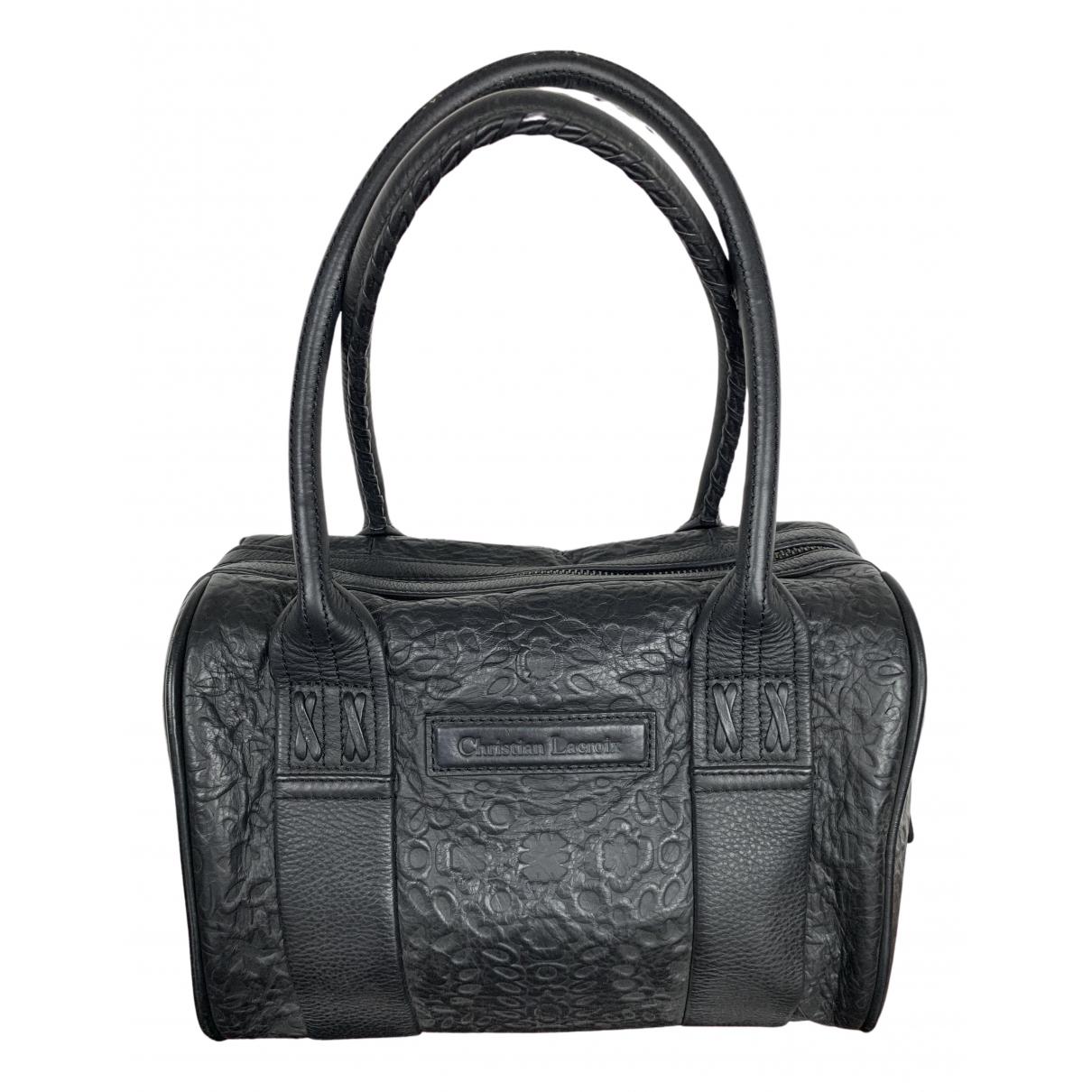 Christian Lacroix \N Handtasche in  Schwarz Leder