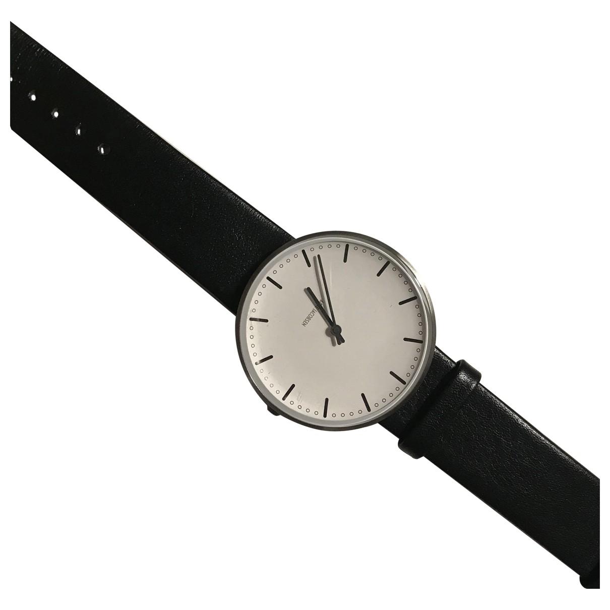 Arne Jacobson \N Uhr in  Schwarz Stahl