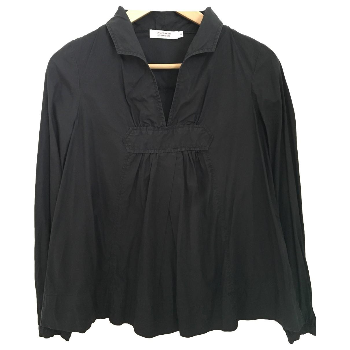 Comptoir Des Cotonniers \N Black Cotton  top for Women 38 FR
