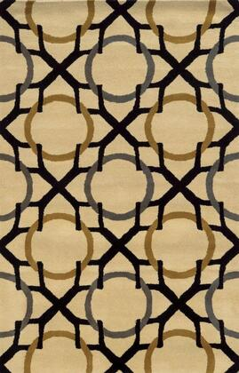 VOLVO508804060305 Volare VO5088-3' x 5' Hand-Tufted 100% Wool Rug in Beige  Rectangle
