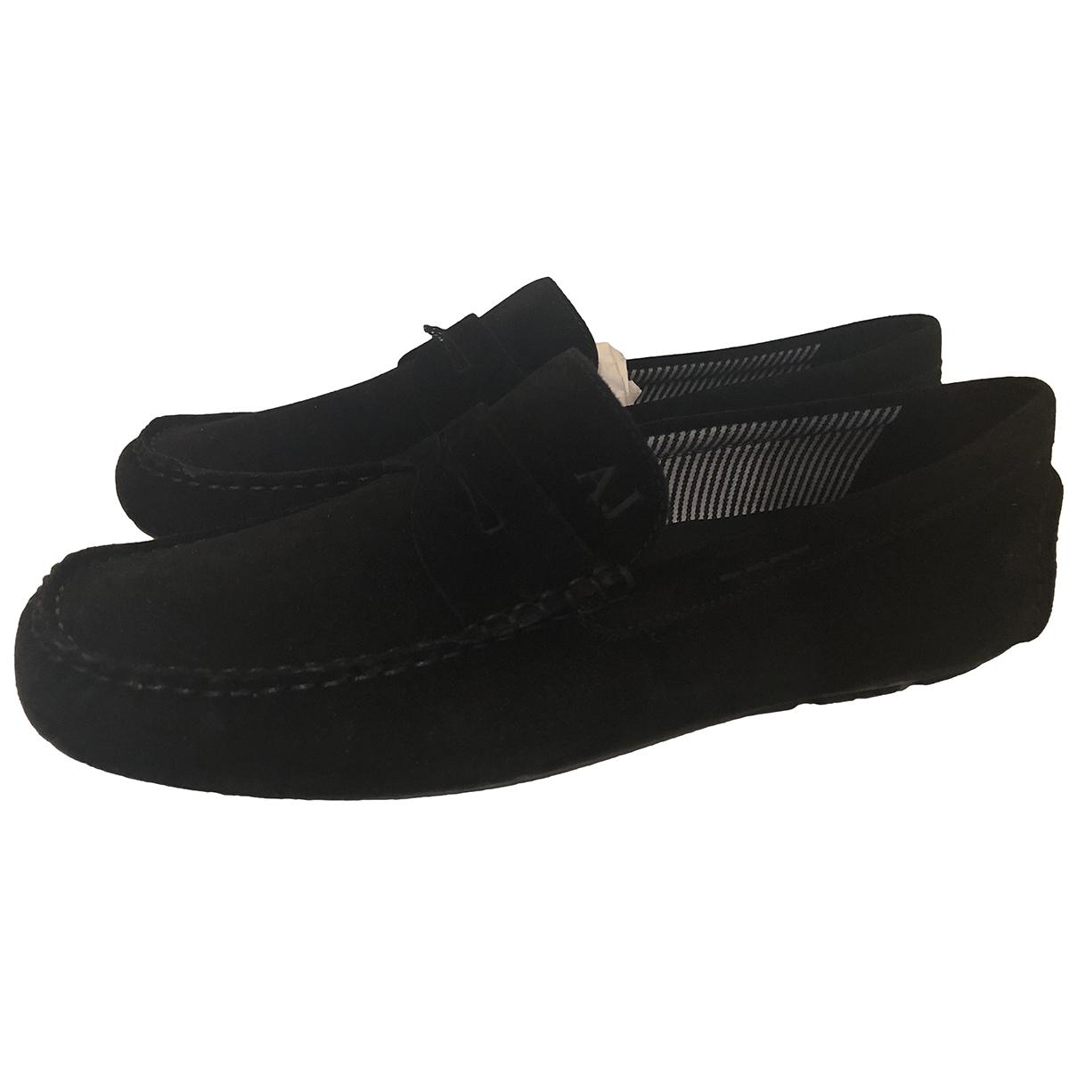 Armani Jeans \N Mokassins in  Schwarz Leder