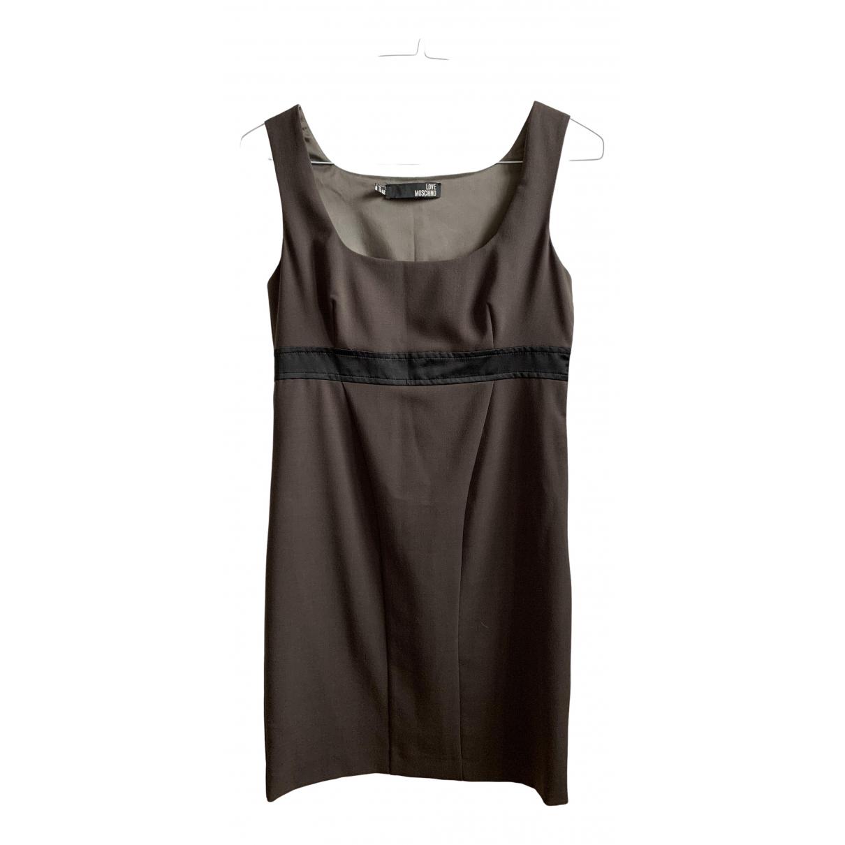 Moschino - Robe   pour femme - marron