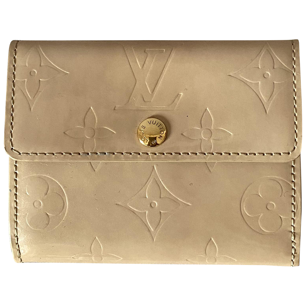 Louis Vuitton \N Portemonnaie in  Beige Leder