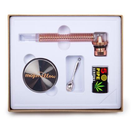 Moji Mellow, Ensemble de tuyaux en verre avec moulin, 1 couleur aléatoire par paquet