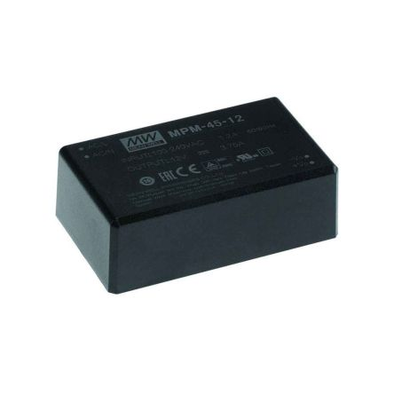 Mean Well , 40W Encapsulated Switch Mode Power Supply, 5V, Encapsulated, Medical Approved