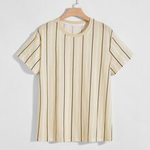 Men Vertical Striped Tee