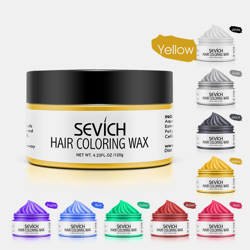 9 Colors Disposable Hair Coloring Wax Unisex Quick Styling Color Hair Clay DIY Dye Cream