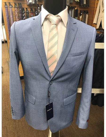 Mens Baby Ocean Light blue 2button Suit
