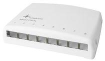 Telegartner AMJ-S Series Cat6a 8 Port RJ45 Mini Patch Panel White