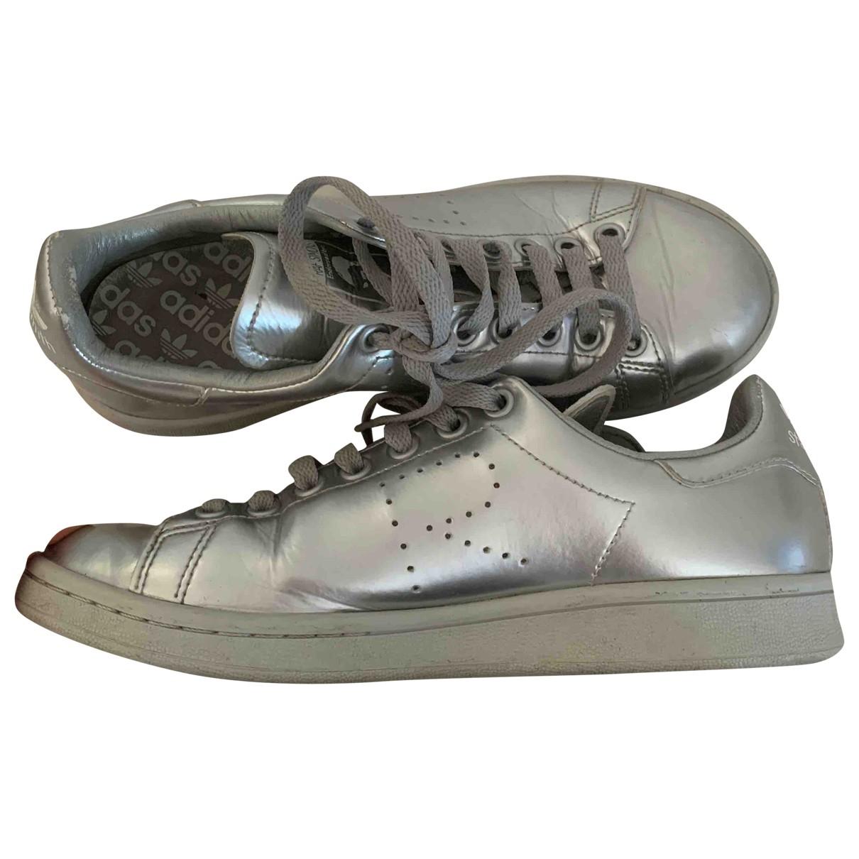 Adidas X Raf Simons - Baskets Stan Smith pour femme - argente