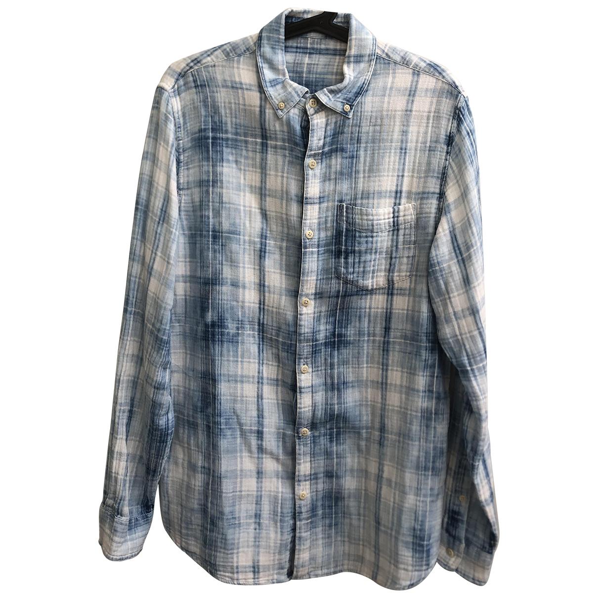 Denham \N Hemden in  Blau Baumwolle