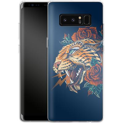 Samsung Galaxy Note 8 Silikon Handyhuelle - Ornate Leopard von BIOWORKZ