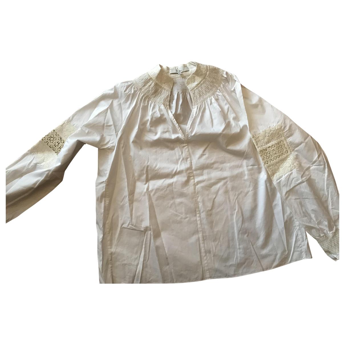 Tibi - Top   pour femme en coton - ecru