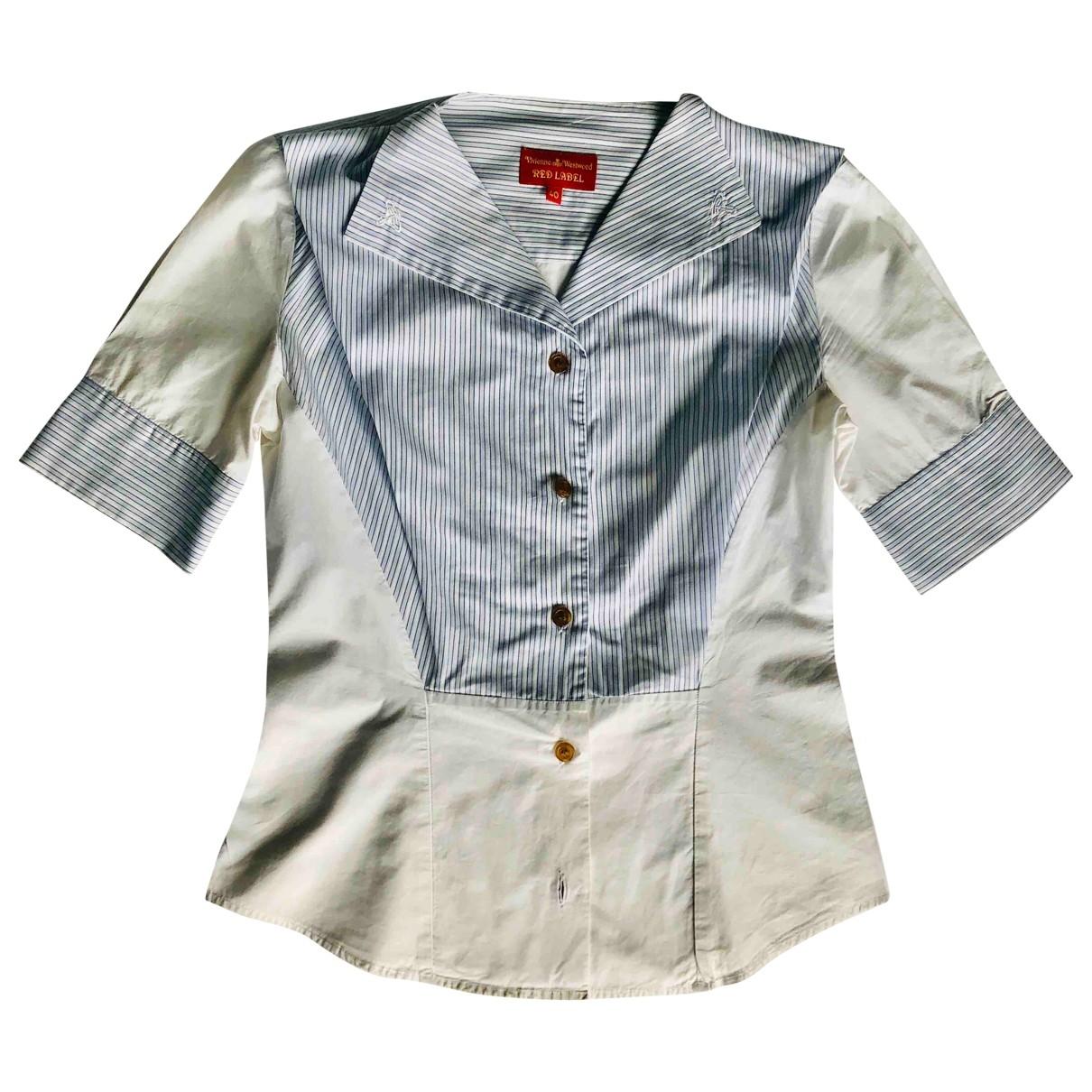 Vivienne Westwood Red Label - Top   pour femme en coton - blanc