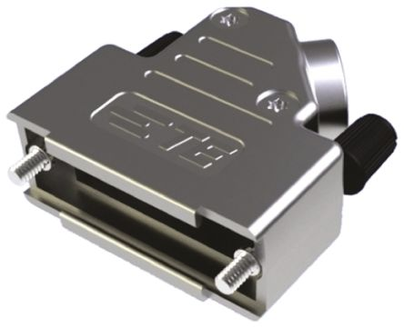 TE Connectivity , ADK ABS Right Angle D-sub Connector Backshell, 25 Way, Strain Relief, Silver