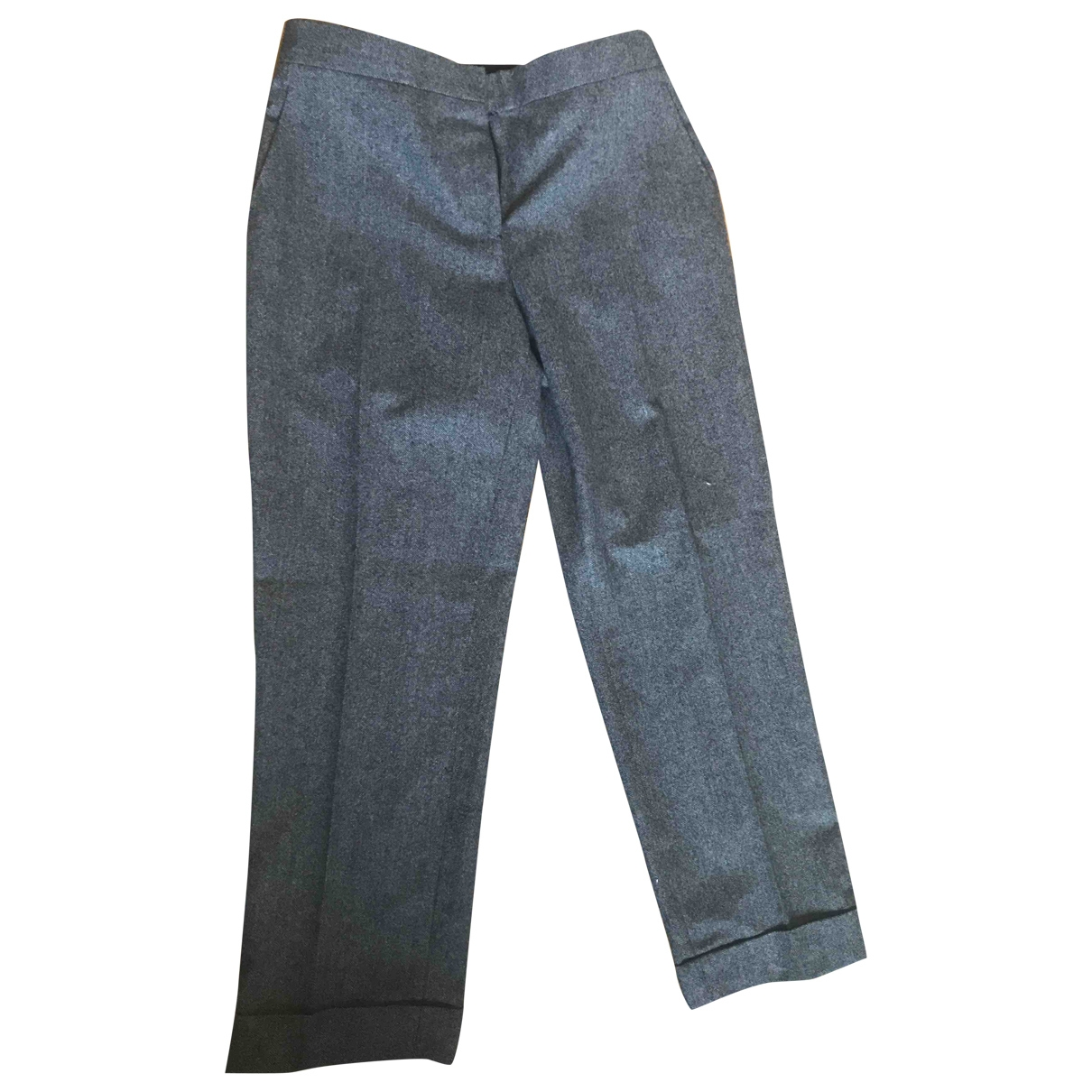 The Row \N Brown Wool Trousers for Women 4 US