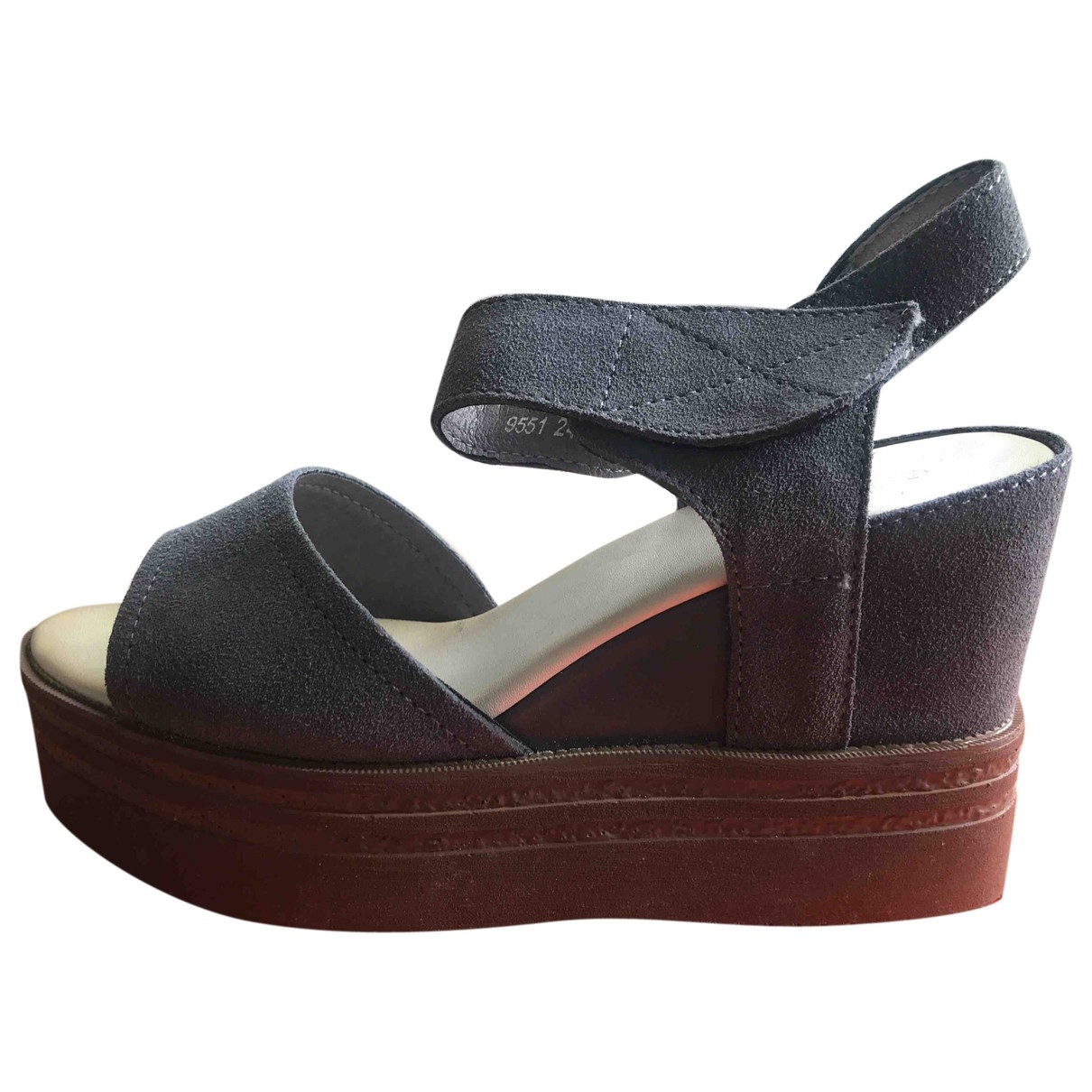 Non Signé / Unsigned \N Grey Suede Sandals for Women 37 EU