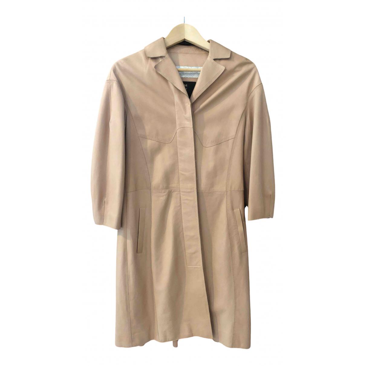 Mcm - Manteau   pour femme en cuir - rose