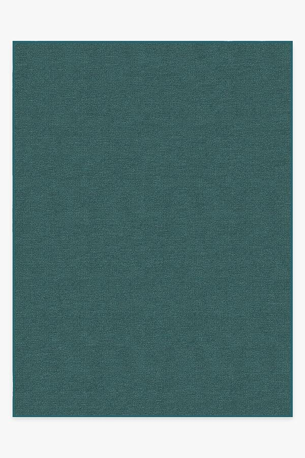 Washable Rug Cover | Heathered Solid Teal Blue Rug | Stain-Resistant | Ruggable | 9x12