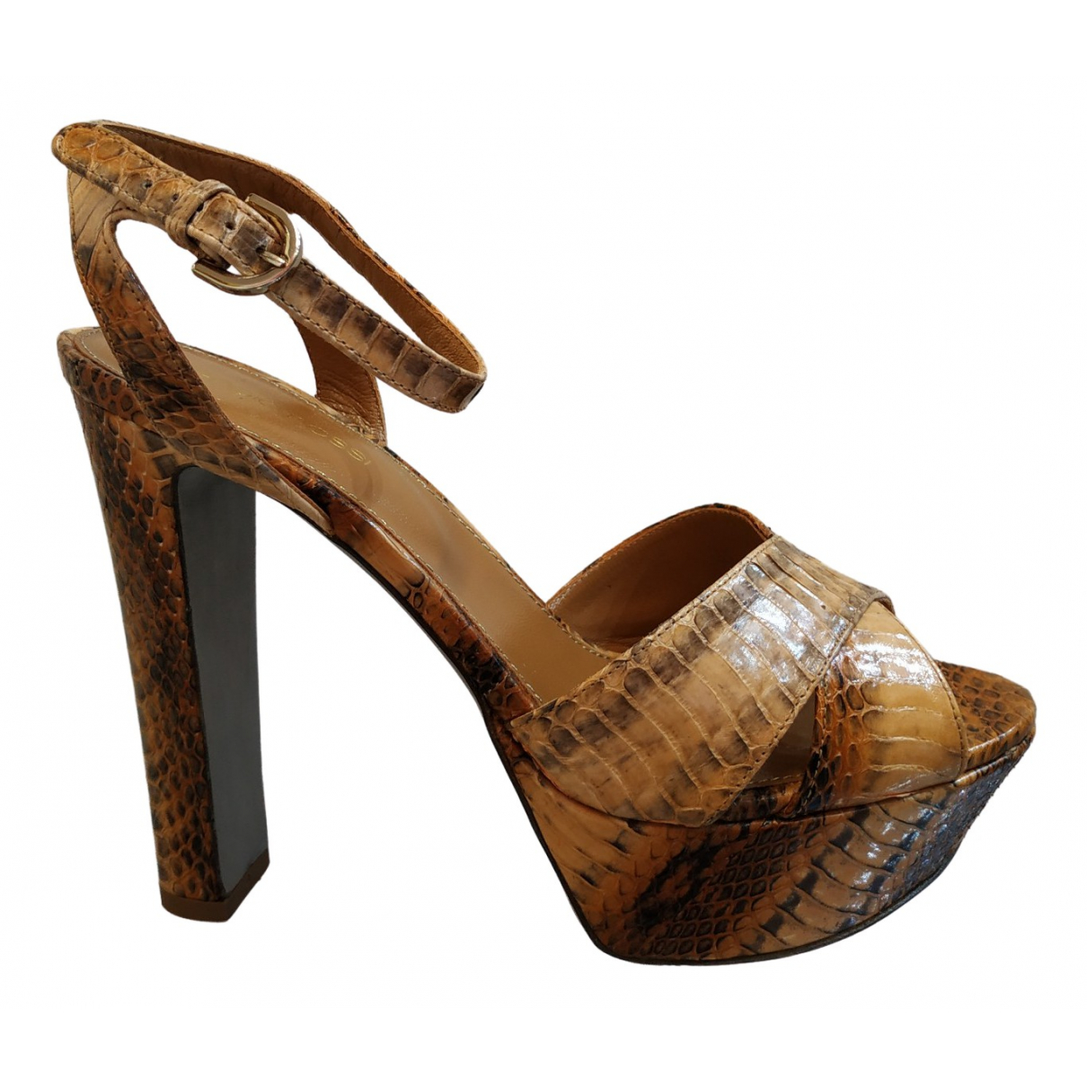 Sergio Rossi \N Beige Exotic leathers Sandals for Women 38 EU