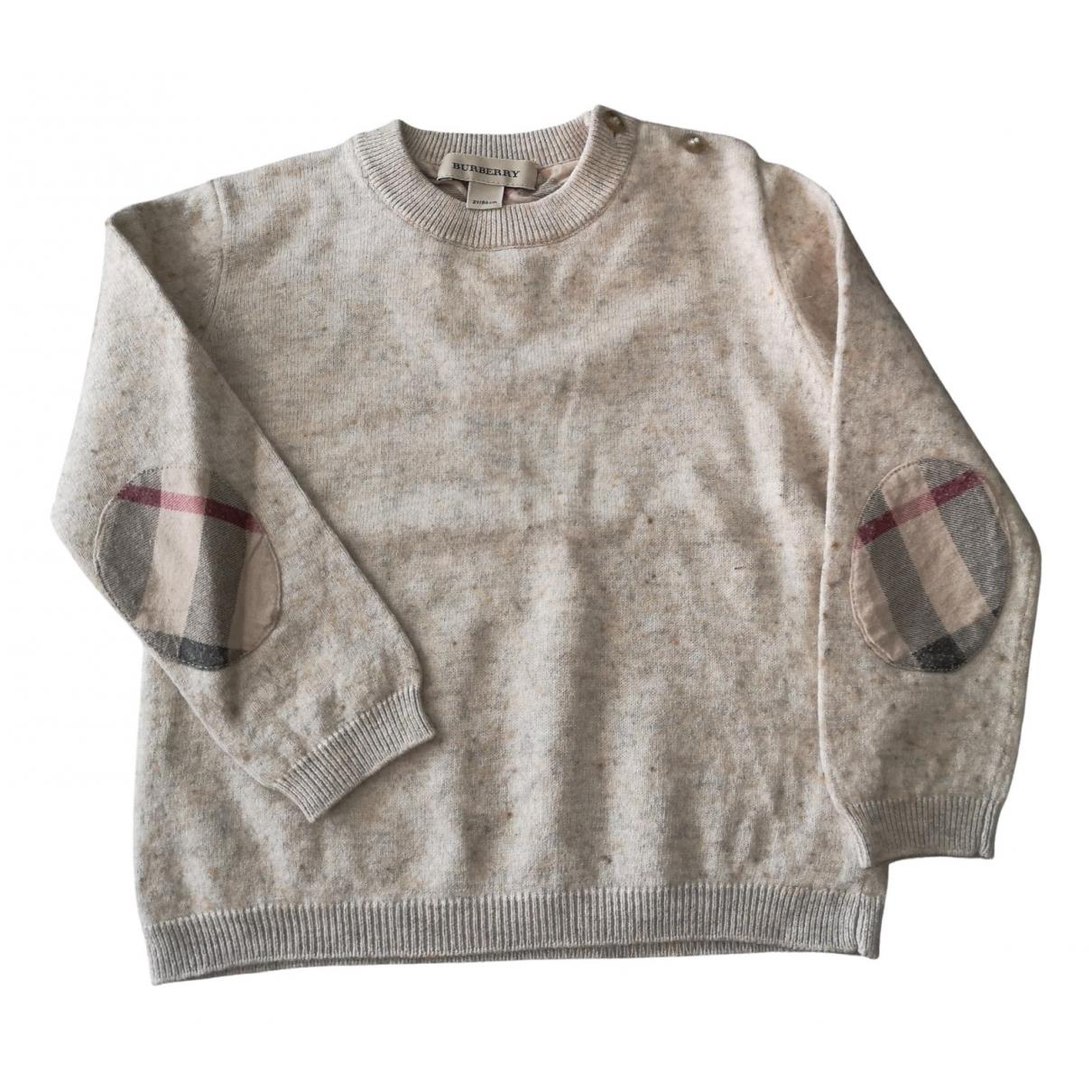 Burberry - Pull   pour enfant en coton - beige