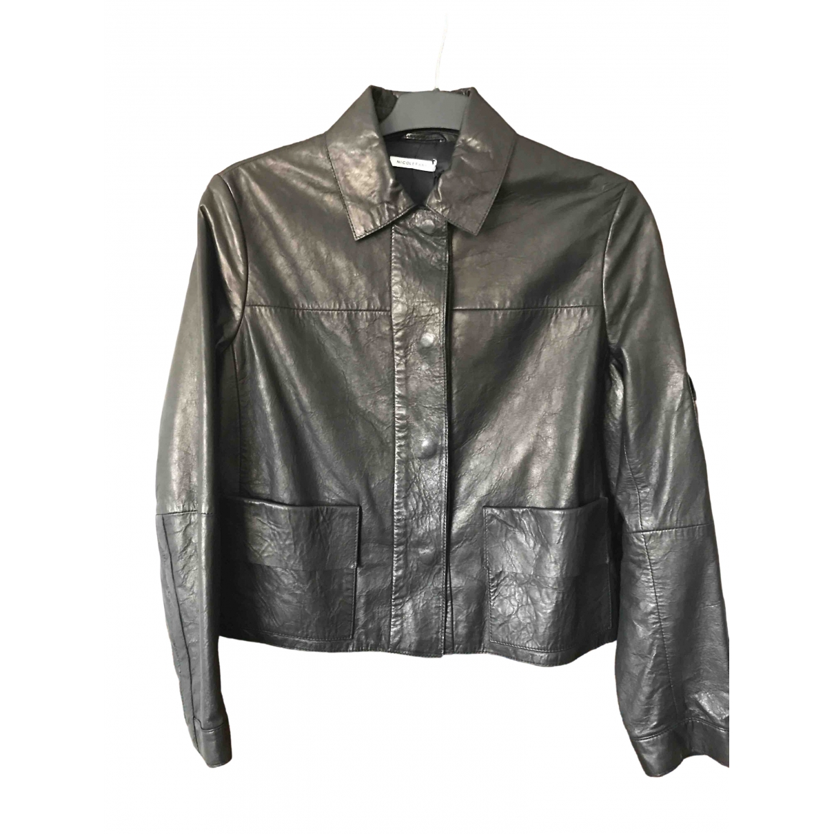 Nicole Farhi \N Black Leather jacket for Women 12 UK