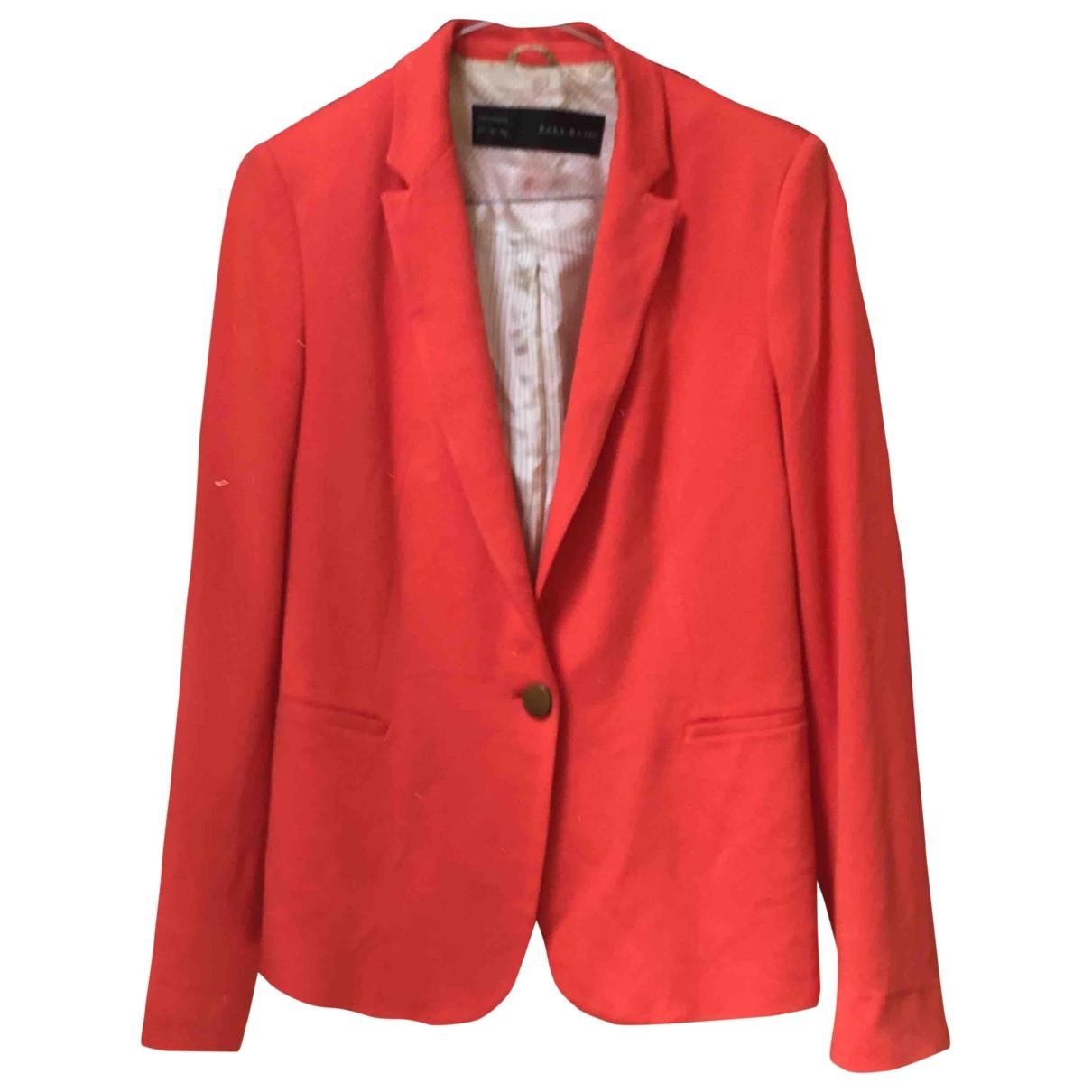 Zara \N Maentel in  Orange Synthetik