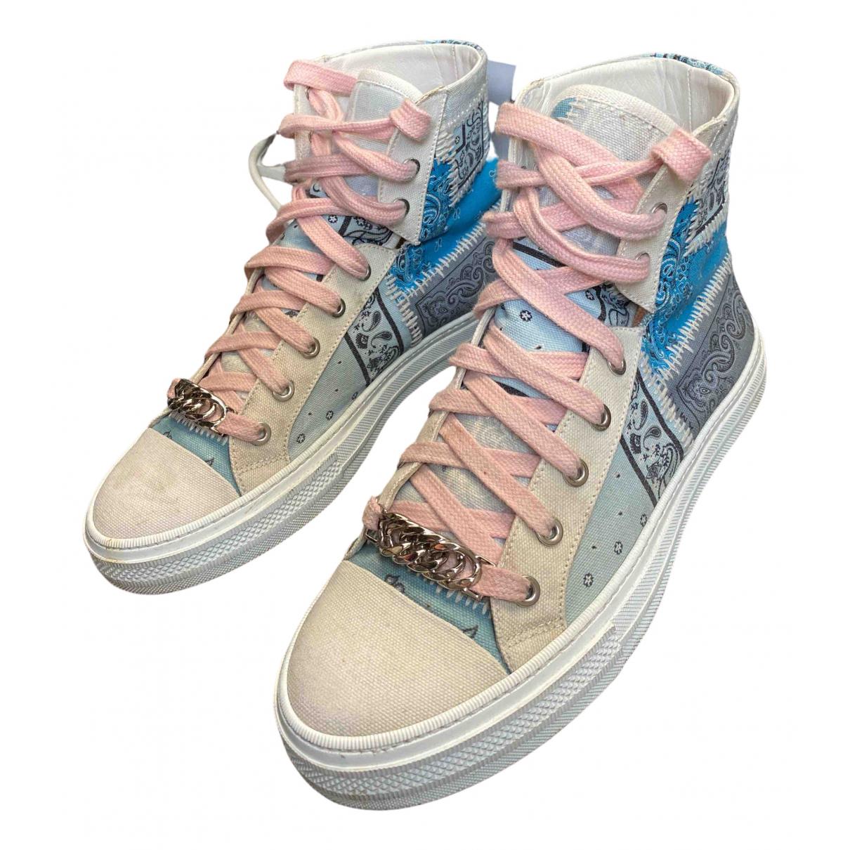 Amiri \N Sneakers in  Blau Leinen