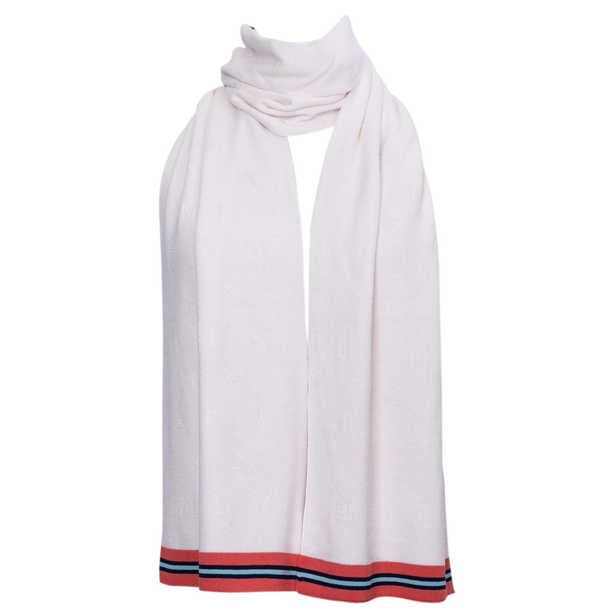 Chanel N White Cashmere scarf for Women N