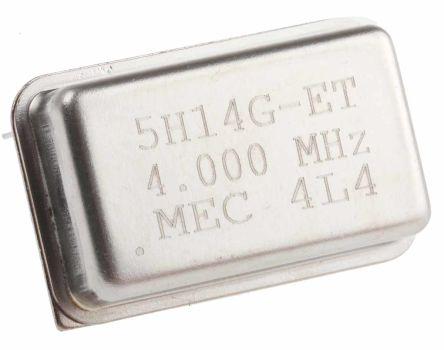 MERCURY , 4MHz Clock Oscillator, ±50ppm HCMOS, TTL, 14-Pin PDIP 5H14ET-4.000