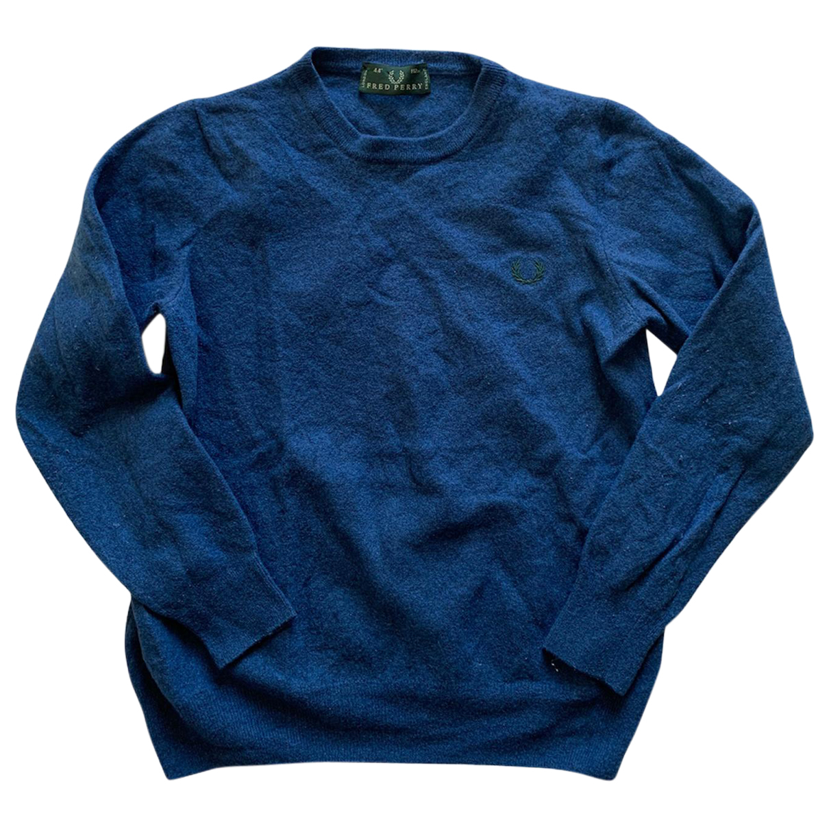 Fred Perry \N Pullover.Westen.Sweatshirts  in  Blau Wolle