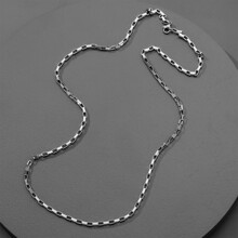 Guys Stainless Steel Chain Necklace