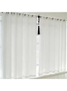Simple Blackout White Living Room Curtains 200g/m² Thick Environment-Friendly Polyester Heat Insulation and Water-proof Drapes