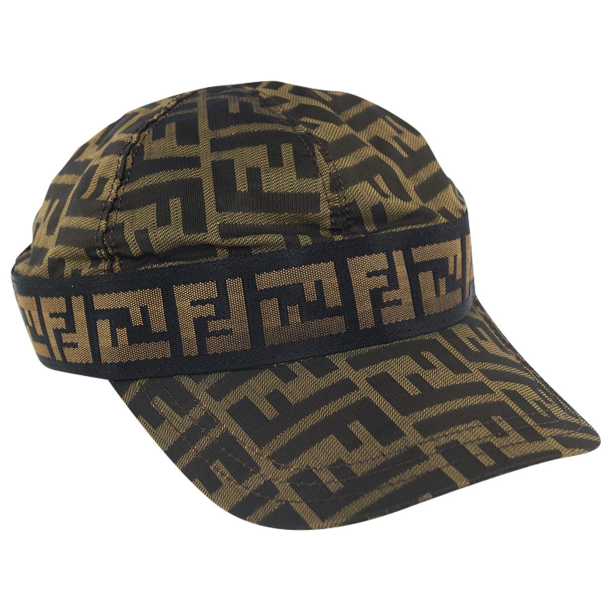 Fendi - Chapeau   pour femme en toile - marron