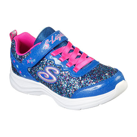 Skechers Glimmer Kicks-Glitter N' Glow Little Kid/Big Kid Girls Sneakers, 1 Medium, Blue