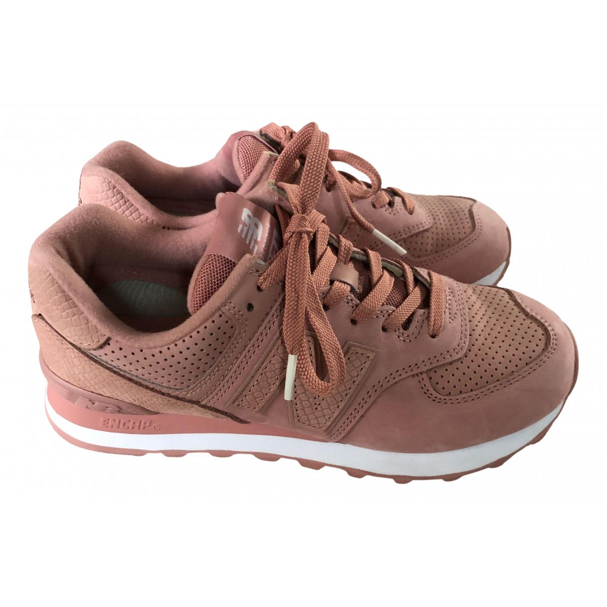 New Balance \N Sneakers in  Rosa Leder
