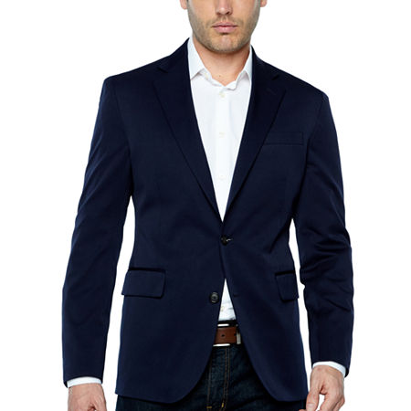Stafford Life In Motion Stretch Slim Fit Sport Coat, 48 Long, Blue