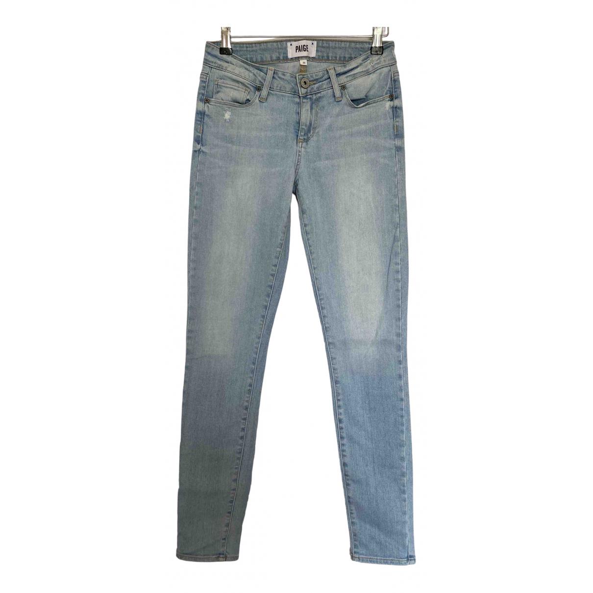 Paige Jeans \N Blue Cotton Jeans for Women 26 US