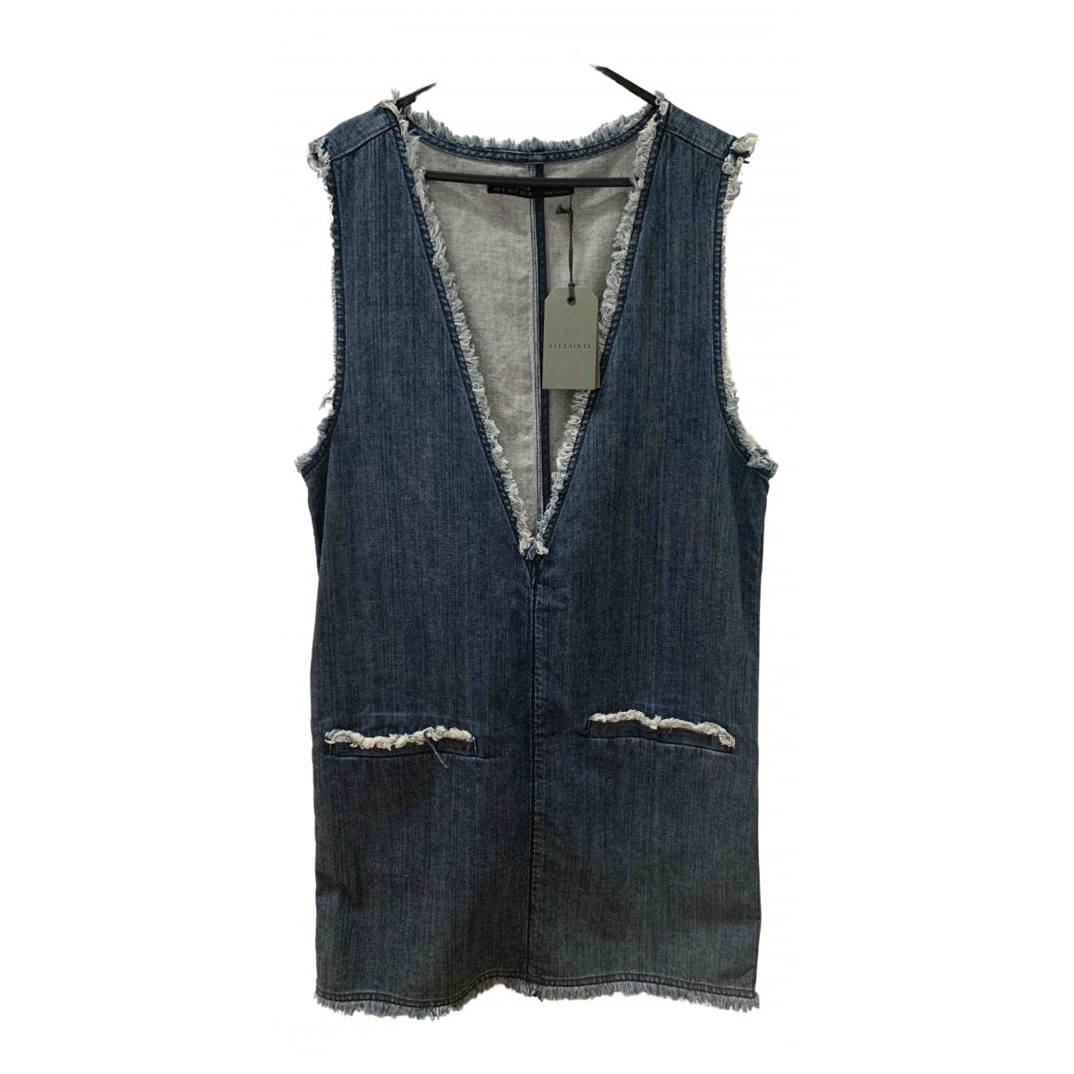All Saints N Blue Denim - Jeans dress for Women 8 UK