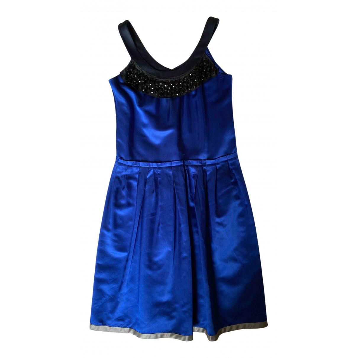 Vera Wang N Blue Silk dress for Women 40 IT