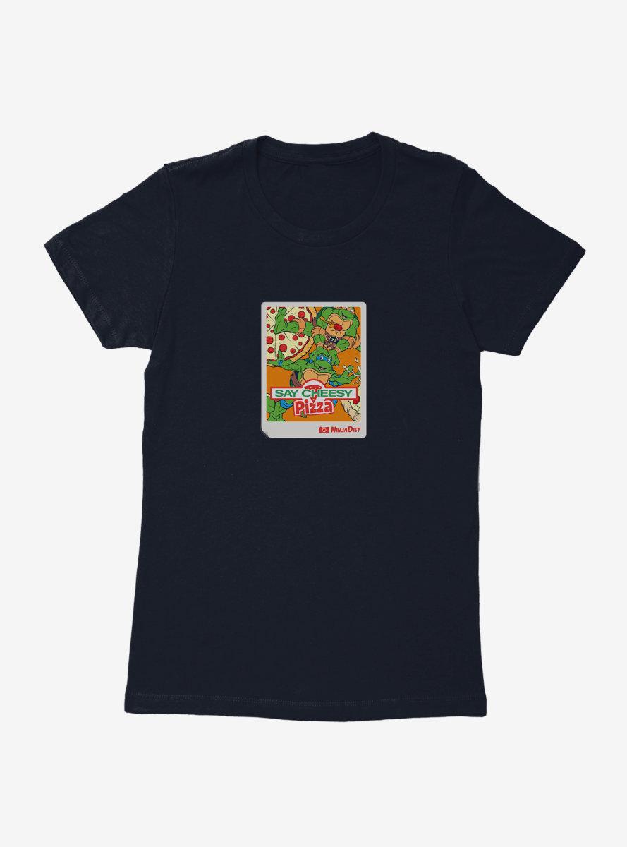 Teenage Mutant Ninja Turtles Pizza Cheese Photo Womens T-Shirt