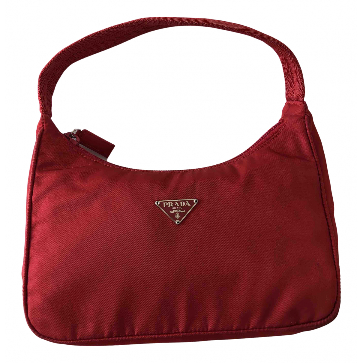 Prada \N Handtasche in  Rot Synthetik