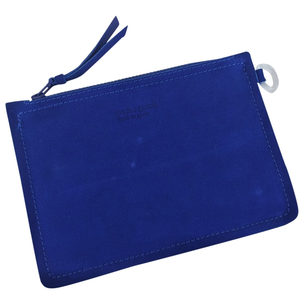 Pedro Garcia \N Blue Suede Clutch bag for Women \N