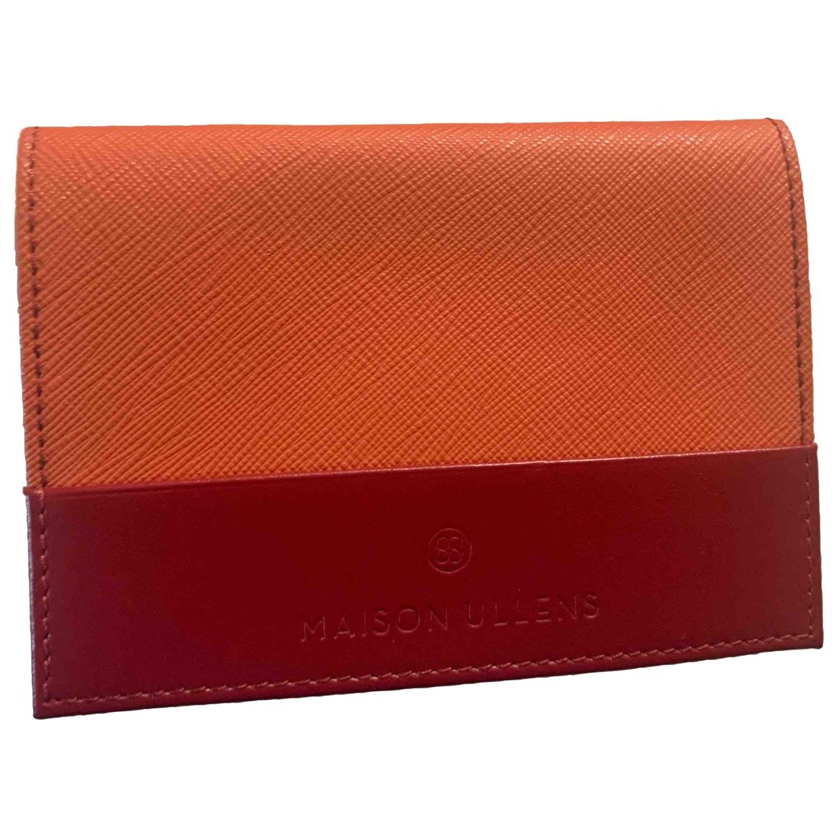 Maison Ullens - Petite maroquinerie   pour femme en cuir - orange