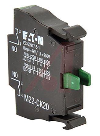 Eaton M22 Contact Block - 2NO 220 V dc, 240 V ac